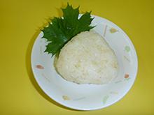 七分づき米のおにぎり